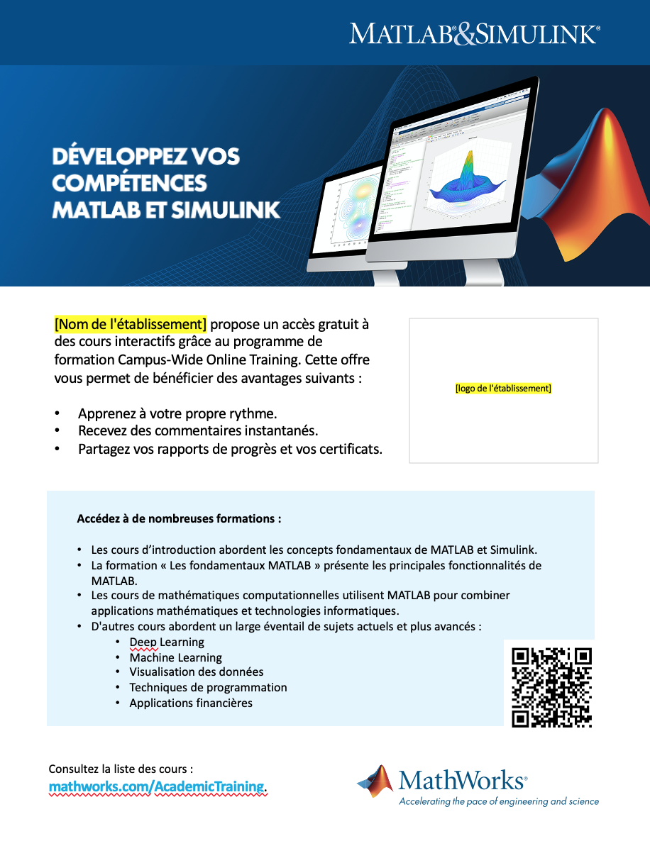 Modèle d'affiche Campus-Wide License Online Training 8½ x 11