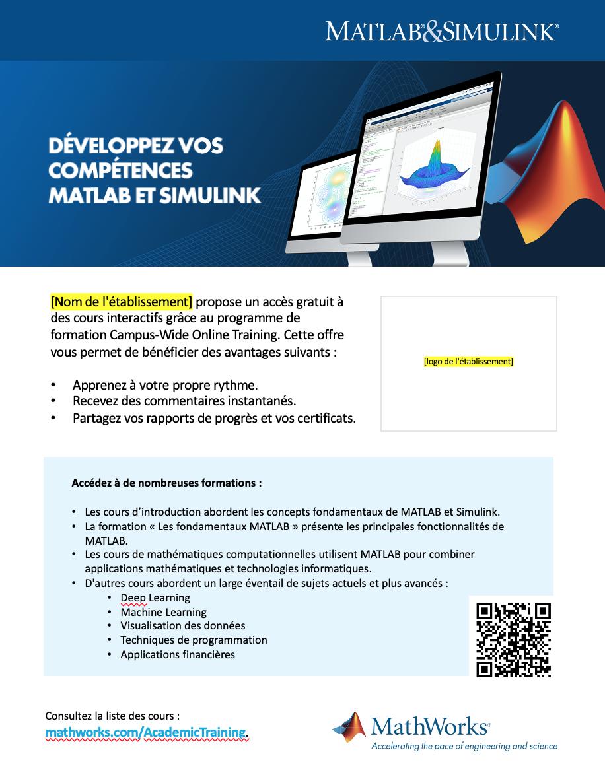 Modèle d'affiche Campus-Wide License Online Training 8½x11
