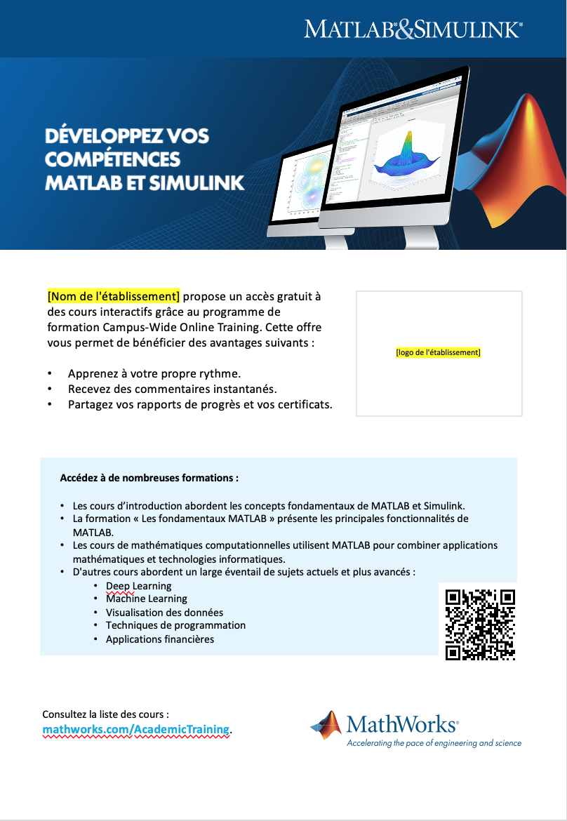 Modèle d'affiche Campus-Wide License Online Training A4