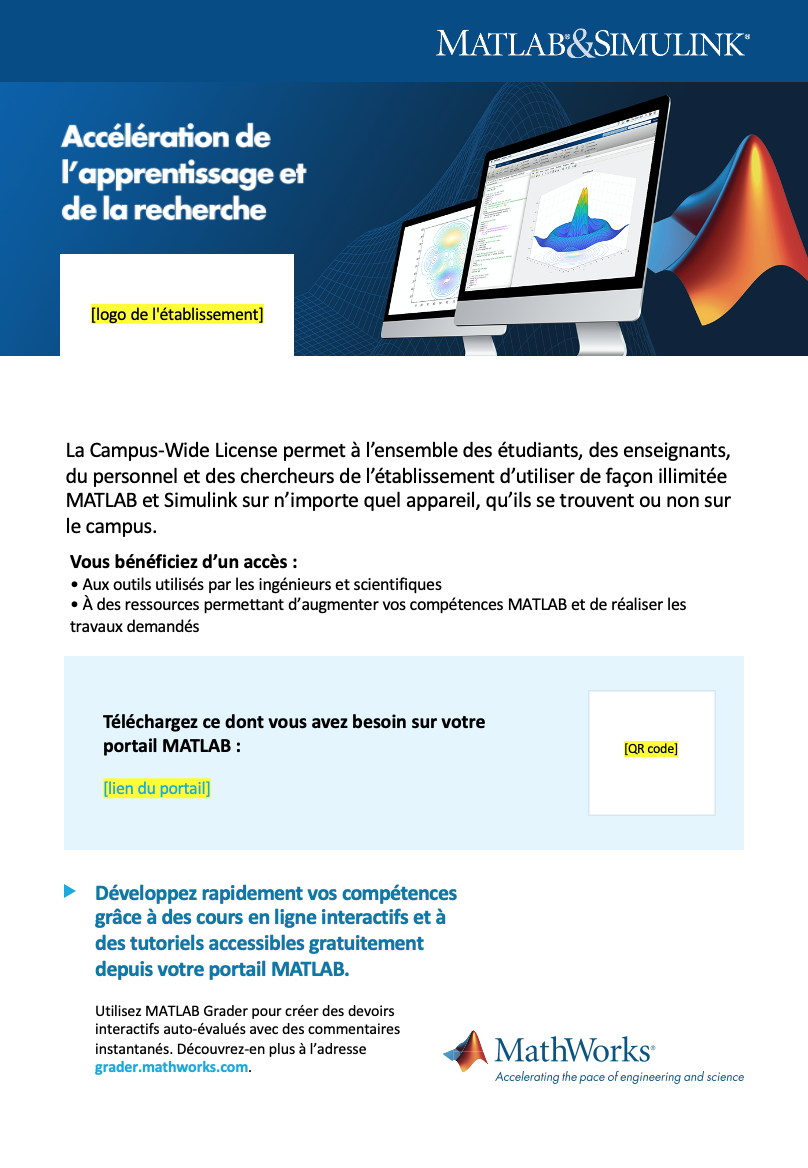 Modèle d'affiche Campus-Wide License A4