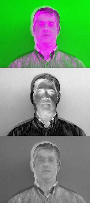 Figure 3a. 'falsecolor' visualization of both images.