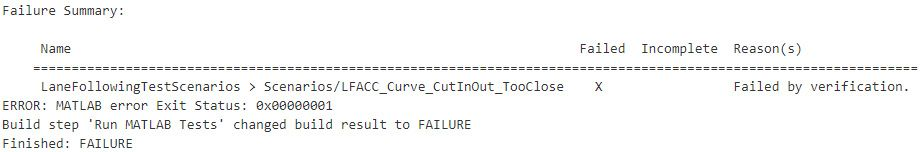 Detect a test case failure in the second verify phase