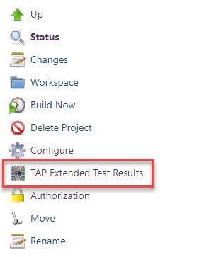 TAP Extended Test Results