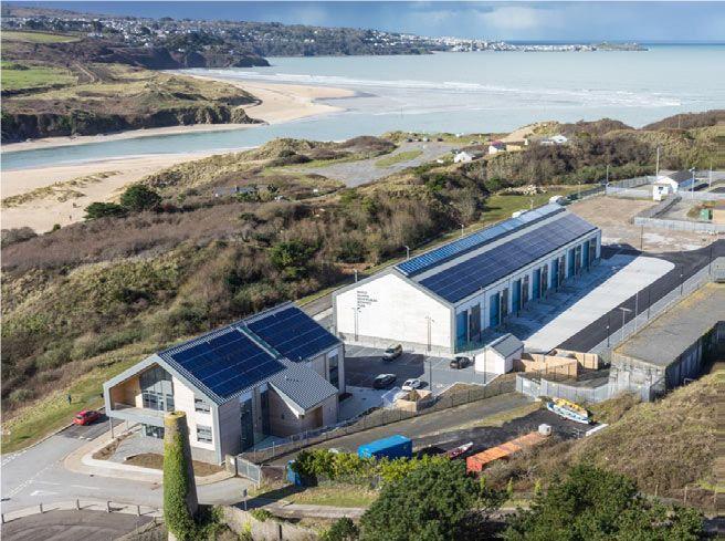 Figure 6. Wave Hub marine energy testing facility in Cornwall, UK.