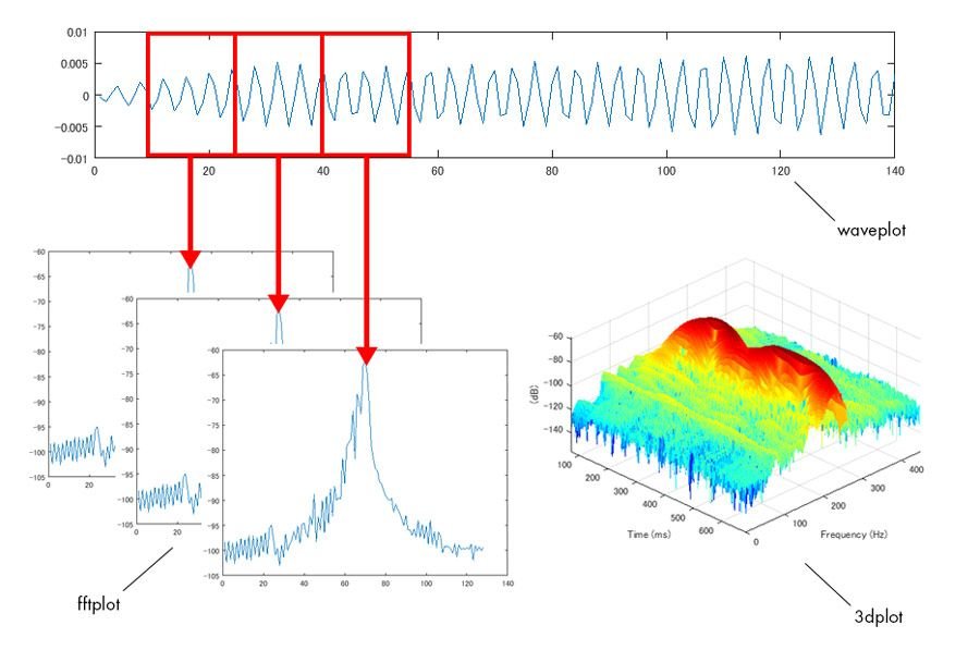 Figure 2. The process for analyzing the frequency characteristics of owl calls.