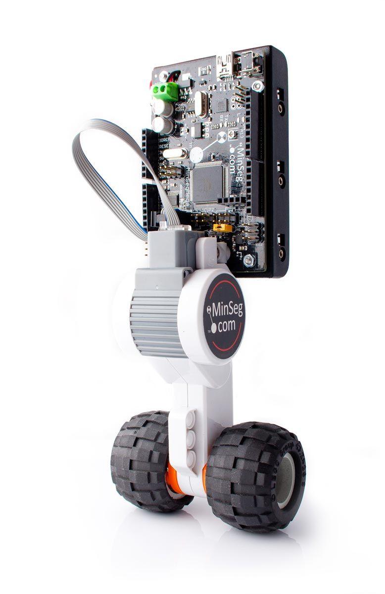 Figure 2.The MinSeg inverted pendulum robot.