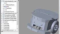 Import SolidWorks, simulation et validation du comportement du robot