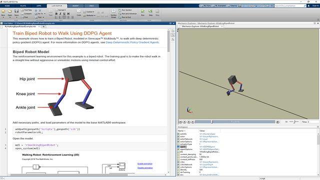 UtiliserReinforcement Learning Toolbox pour concevoir et entraîner des politiques.