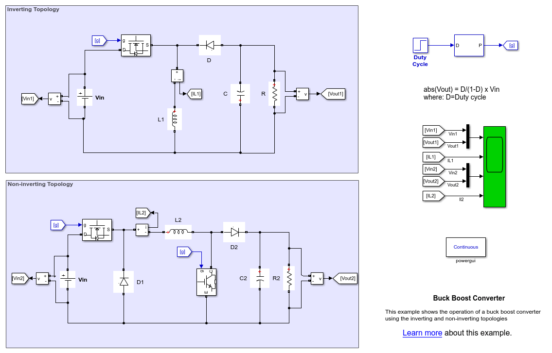 Snap Buck Boost Converter Circuit Diagram Matlab And At9933 Datasheet Design For A Simulink Mathworks France