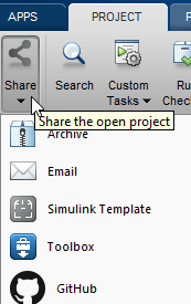 Sharing Projects - MATLAB & Simulink - MathWorks France