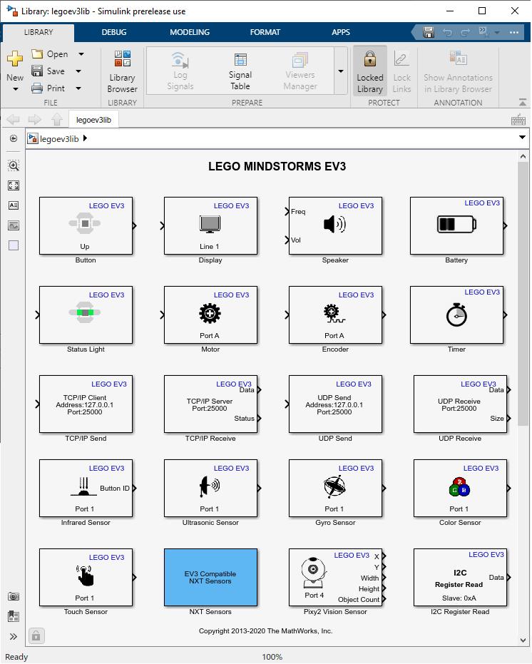 Open Block Library for LEGO MINDSTORMS EV3 Hardware - MATLAB