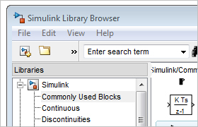 Le Simulink Library Browser