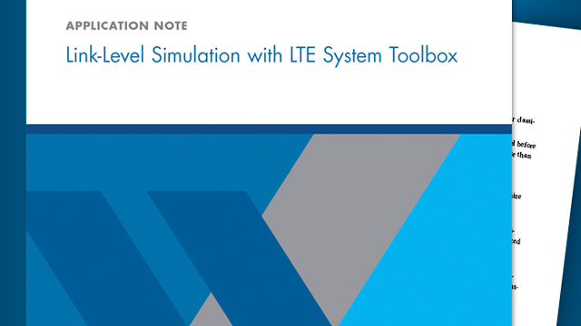 LTE System Toolbox for Link-Level Simulation