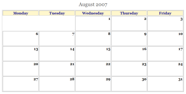 html calendar generator file exchange matlab central