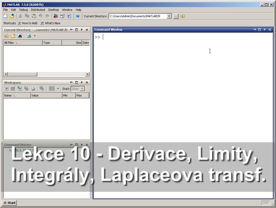 Matlab Video Tutorial In Czech Lesson 10 Symbolic Math File