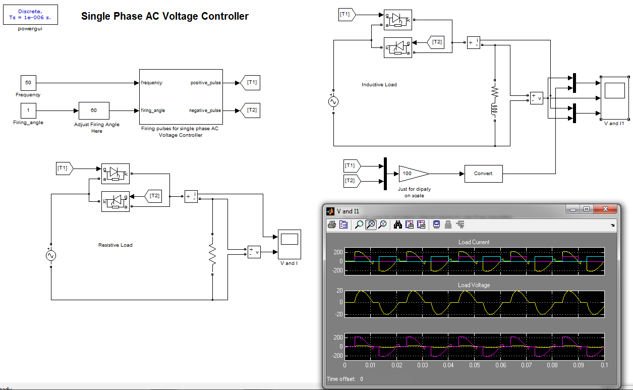 Single Phase Ac Voltage Controller File Exchange Matlab Central Motor Wiring Image Thumbnail