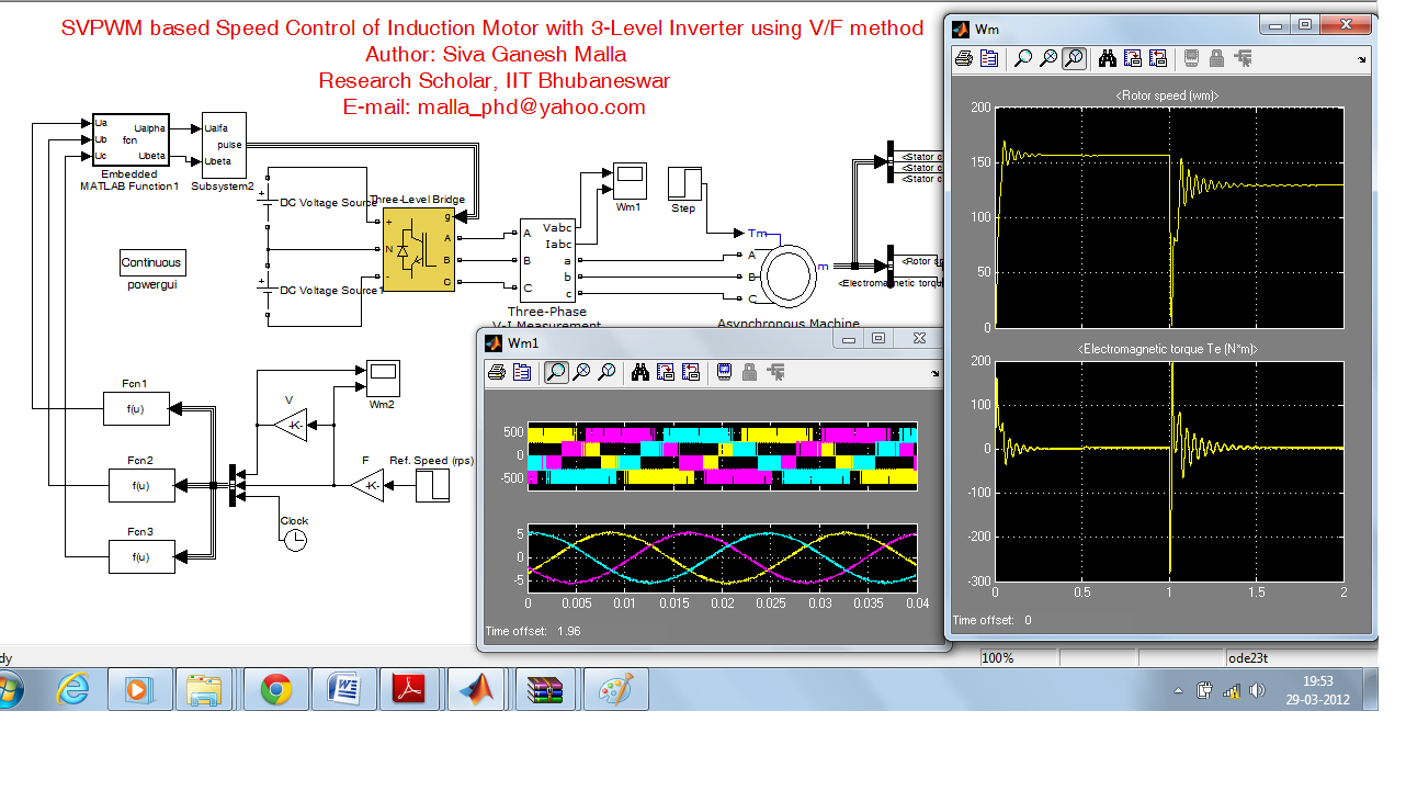 Svpwm based speed control of induction motor with 3 level for Motor speed control methods