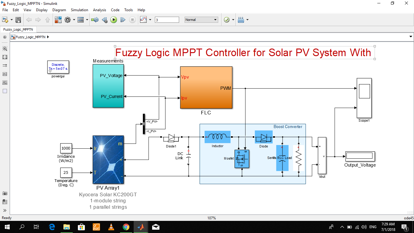 Fuzzy Logic MPPT for Solar PV - File Exchange - MATLAB Central