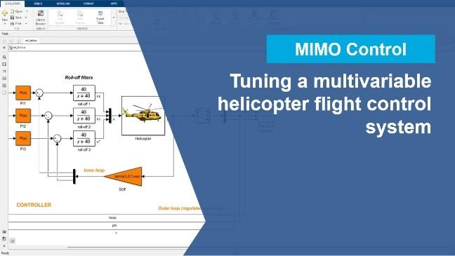 Réglez automatiquement un système de commandes de vol multivariables à l'aide de l'application Control System Tuner.