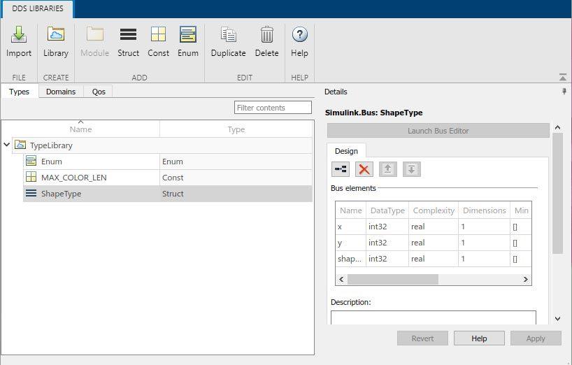 Interface utilisateur du dictionnaire DDS.