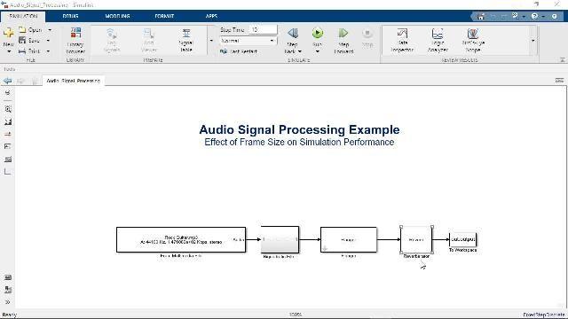 Découvrez comment utiliser le traitement basé sur les trames dans Simulink pour accélérer les simulations de modèles et reproduire le comportement des systèmes temps réel.