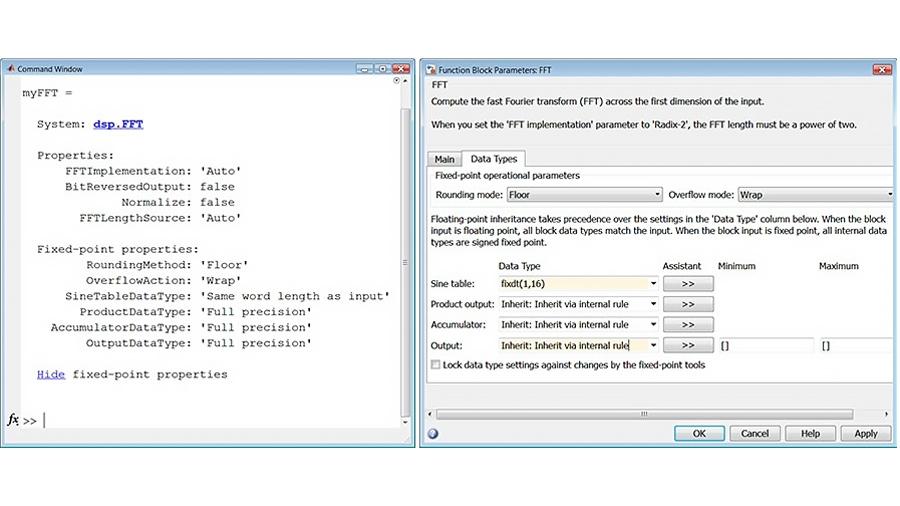 Propriétés FFT pour les types de données en virgule fixe