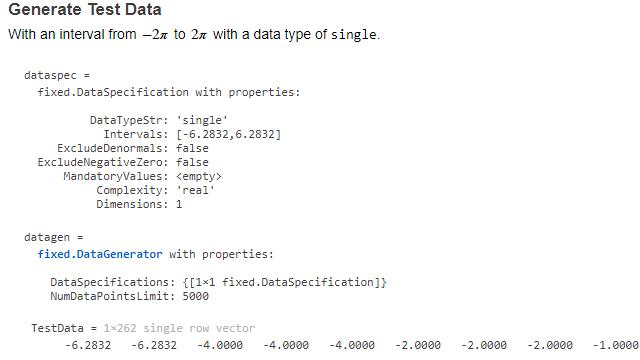 API du générateur de données.