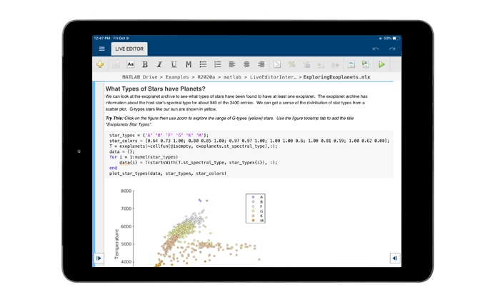 MATLAB Mobile What's New