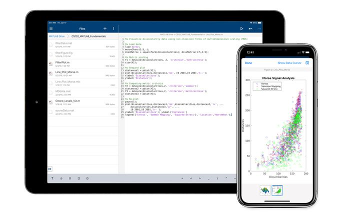 Connexion au cloud MATLAB Mobile