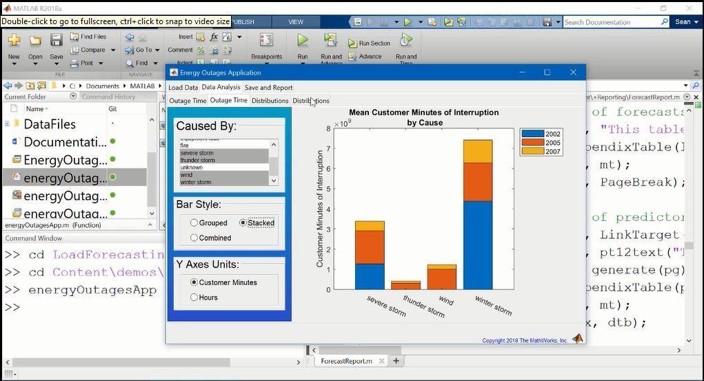 Cette vidéo donne une vue d'ensemble de MATLAB Report Generator. Elle illustre dans un premier temps la génération automatique de rapport au moyen d'un exemple. La vidéo couvre également un exemple d'utilisation de code MATLAB pour générer un rapport, et présente deux exemples de génération de rapports avec des modèles.