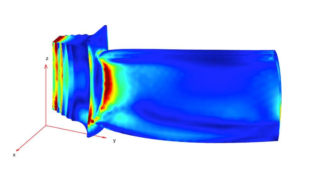 Distribution des contraintes sous des charges mécaniques et thermiques combinées.
