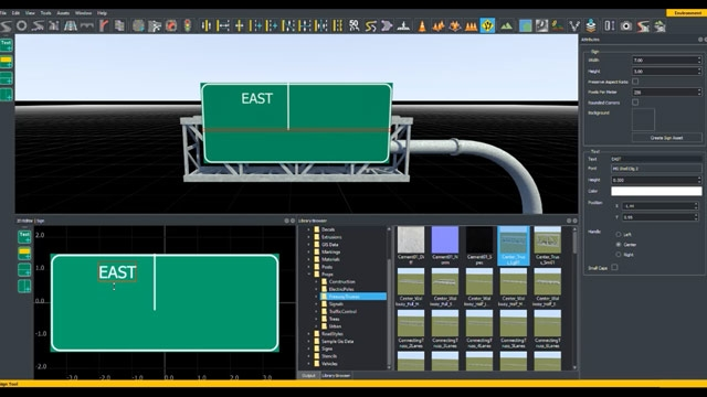 Learn how to create a custom road sign using the Sign Editor tool.