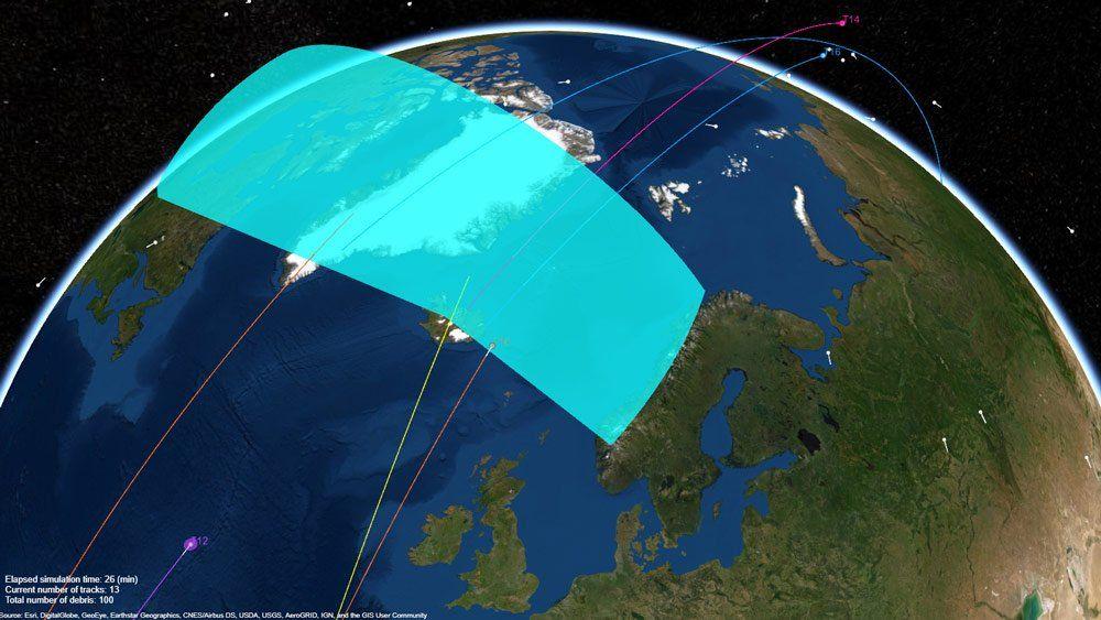 Système radar de pistage des débris spatiaux en orbite autour de la Terre