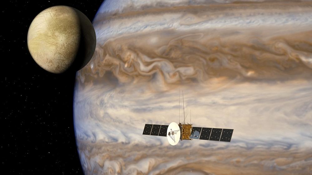 Airbus Defence and Space simule les flux de données de la mission Jupiter Icy Moons Explorer.