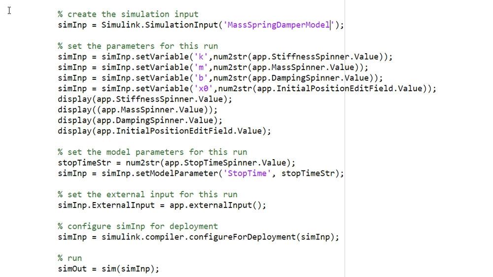 Utiliser un objet SimulationInput pour définir les données d'entrée et les paramètres de la simulation.