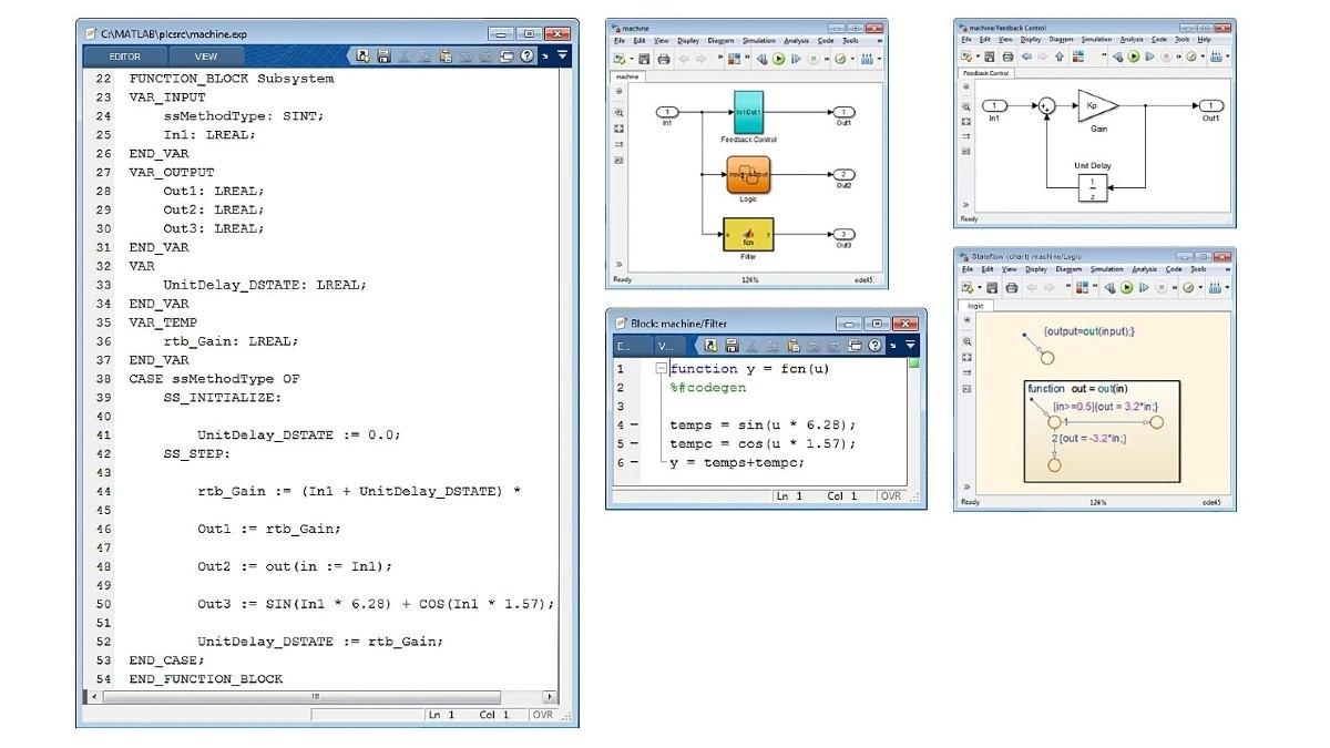 Exemple de texte structuré optimisé Simulink PLC Coder génère du code optimisé et bien intégré pour Simulink, Stateflow et les fonctions MATLAB.