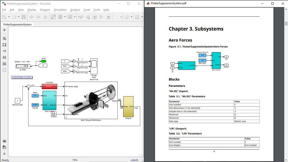 Rapport System Design Description (SSD) à partir d'un modèle.