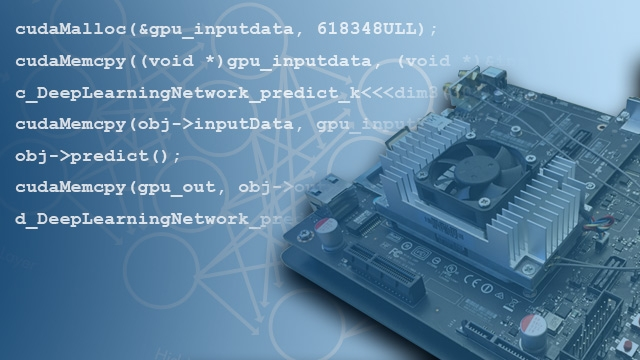 Générez du code CUDA à partir du code MATLAB pour les GPU NVIDIA.