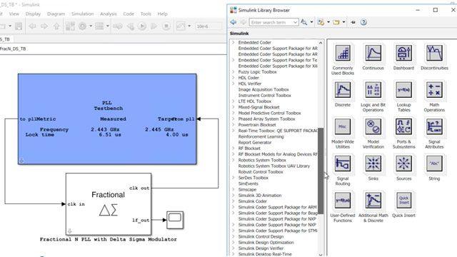 Concevez et simulez des systèmes analogiques et à signaux mixtes, comme des ADC et des PLL, avec Mixed-Signal Blockset.