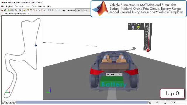 Découvrez une animation illustrant une simulation du design de groupes motopropulseurs avec Simscape.