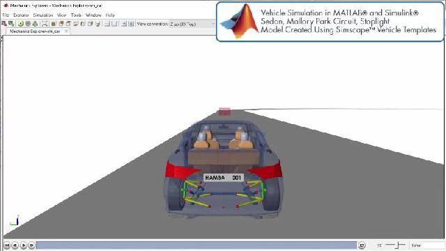 Découvrez une animation illustrant une simulation de la conduite autonome avec Simscape.
