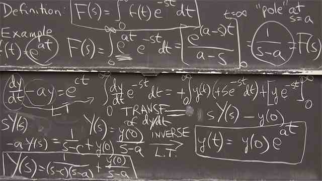 Transform each term in the linear differential equation to create an algebra problem. You can then transform the algebra solution back to the ODE solution, <em>y(t)</em>.