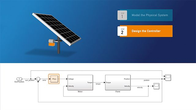 Build and simulate a model with Simulink.
