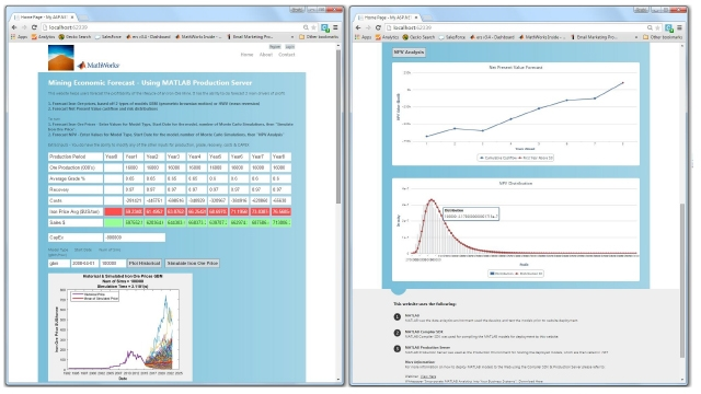 This session discusses how to develop and deploy your analytics in MATLAB, and shows how to create desktop or mobile web sites which call upon deployed analytics.