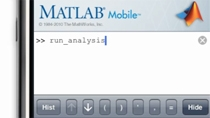 Connect to MATLAB from your iOS device.