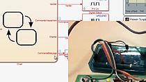 Découvrez comment concevoir, modéliser et simuler la commande d'un ventilateur par diagramme d'état à l'aide de Simulink et Stateflow et l'exécuter sur la cible matérielle Arduino.