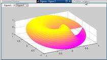 MATLAB does not have a polar surface plot built in. You can use a normal surface plot if you convert your polar data into Cartesian with the pol2cart command. We also cover how to get rid of the edges on dense surface plots like this one by setting '