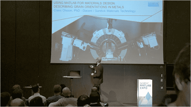 This presentation shows how the Steel Research Center of Sandvik Materials Technology uses MATLAB to calculate orientation dependencies in nuclear materials.