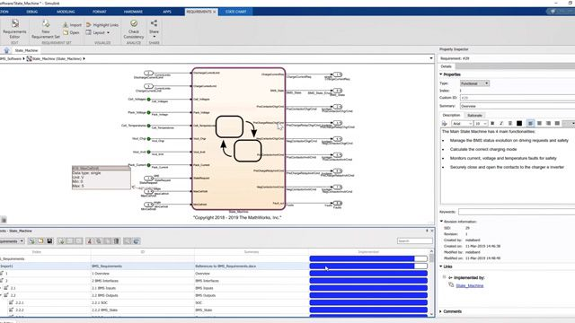 See how to use Simulink Requirements to author, analyze, and manage battery management system (BMS) requirements in Simulink. Link and trace requirements between a Simulink model and source documents.